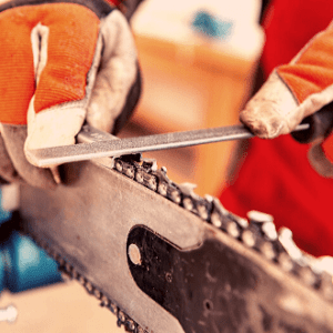 Sharpening your chainsaw unevenly